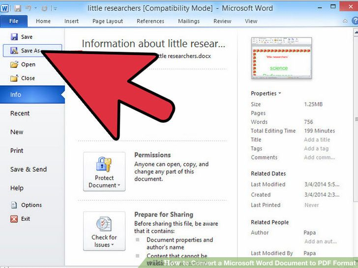 Convert a Microsoft Word Document to PDF Format Microsoft word - how to create a resume on word 2010