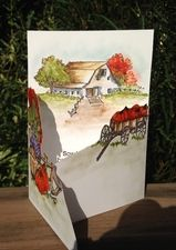 Art Impressions Stamps A Lovely Fall Trifold Card Class Offered At Great American Stamp Store In Westport CT