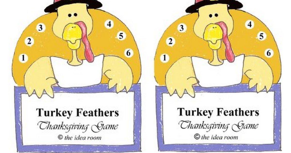 Turkey Feathers Game Printablepdf Family Games Turkey feathers