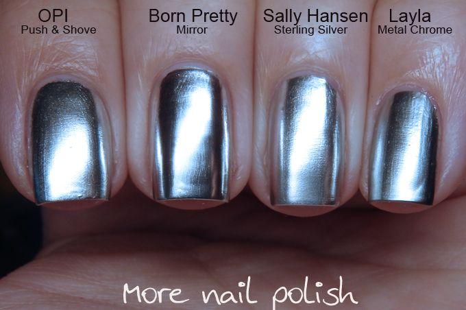 Silver chrome / mirror nail polish comparison ; 2/22/16 | Nail ...