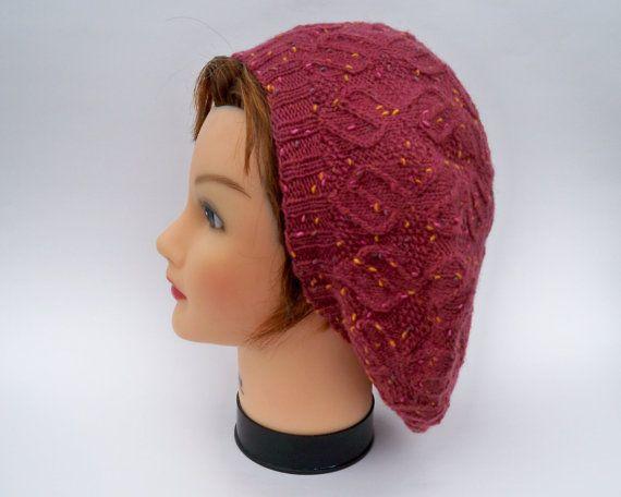 Tweed Slouchy Tam  Women's Knit Hat In Deep by BettyMarieJones, $25.00