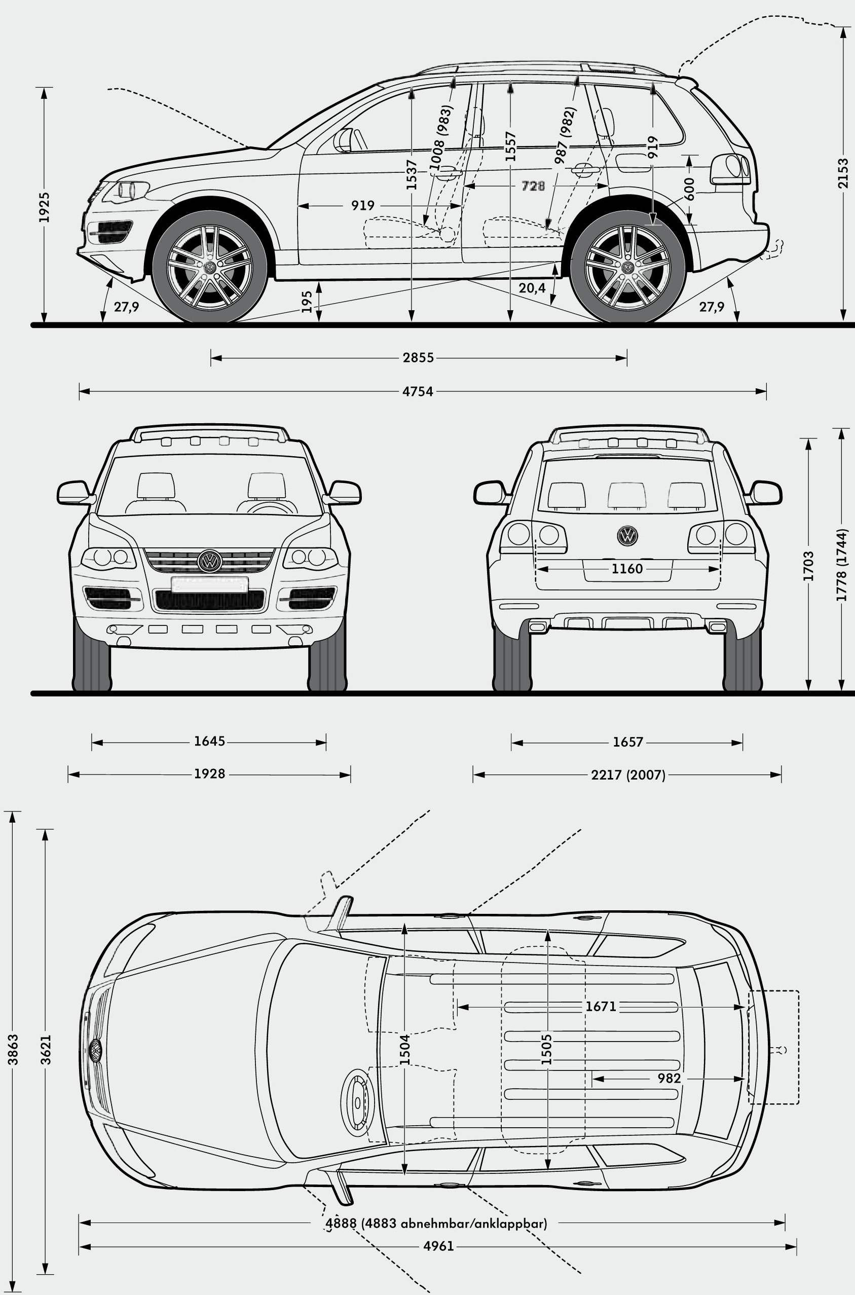 Volkswagen Touareg Blueprint With Images
