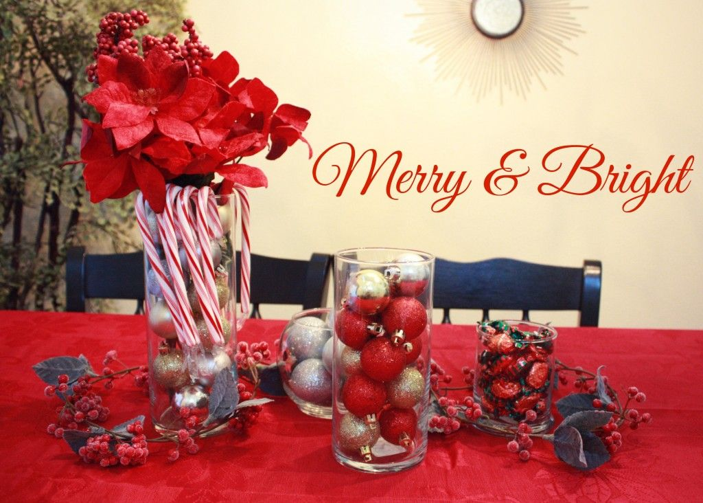 christmas table centerpiece from the dollartree savvy sassy moms