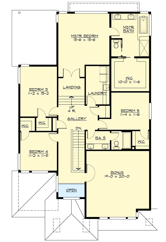 Plan 23629jd Five Bedrooms And A Bonus Room Too Bungalow Floor Plans Architectural House Plans Beach House Plans