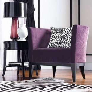 Paolo Purple Accent Chair #beautifulswitch | Purple living ...