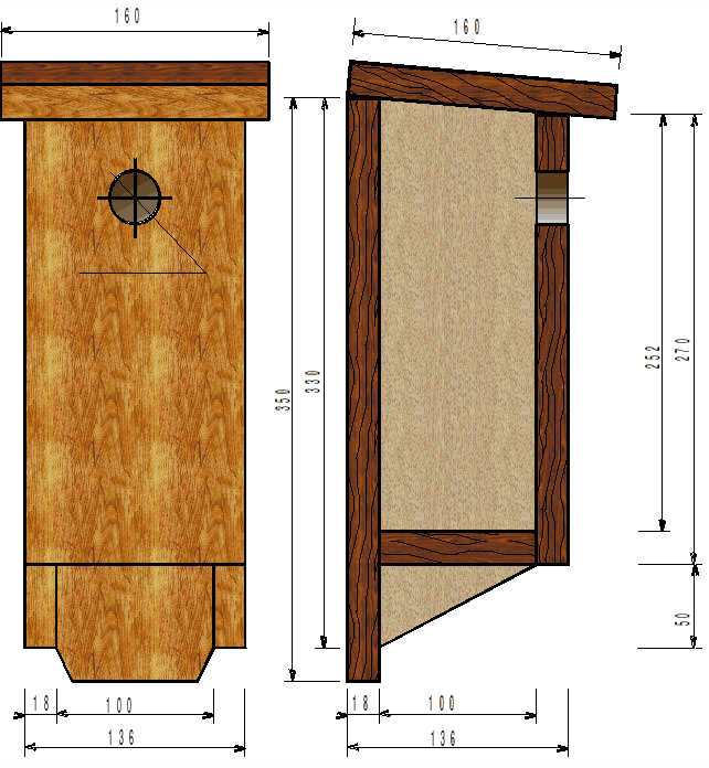 plan de nichoir boite lettres nichoirs pour petits oiseaux pinterest nichoirs plans et. Black Bedroom Furniture Sets. Home Design Ideas