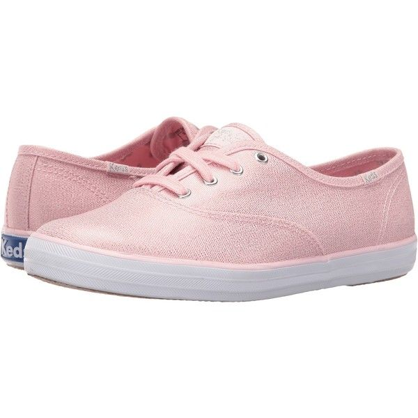 da6c8a05e2b Keds Taylor Swift Champion Metallic Canvas (Light Pink) Women s Shoes ( 40)  ❤ liked on Polyvore featuring shoes