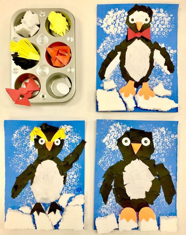 Torn Paper Penguin Craft - Fantastic Fun & Learning