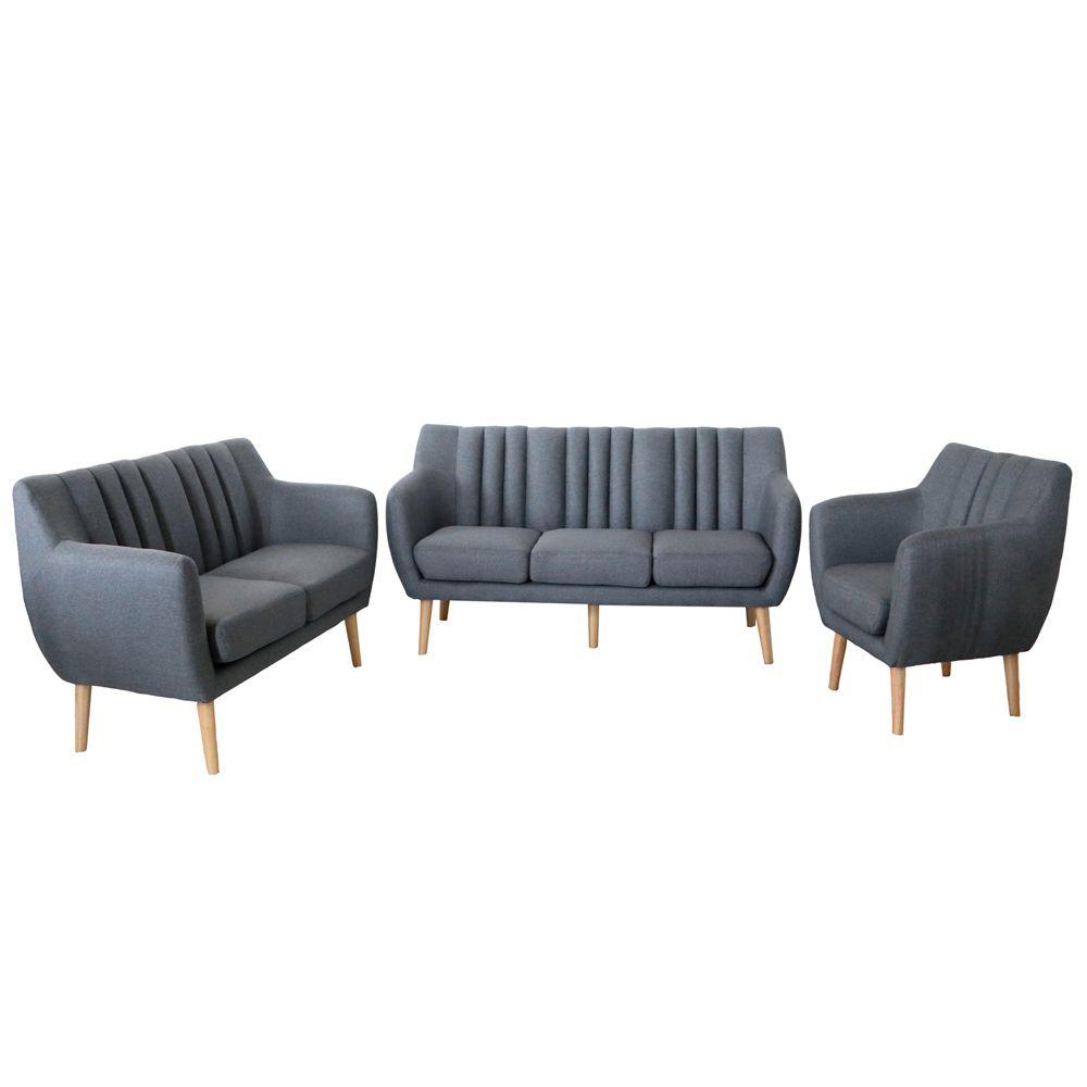 Buy Luxo Ramten 6 Seater Scandinavian Sofa Setting - Grey ... on Luxo Living Outdoor id=99335