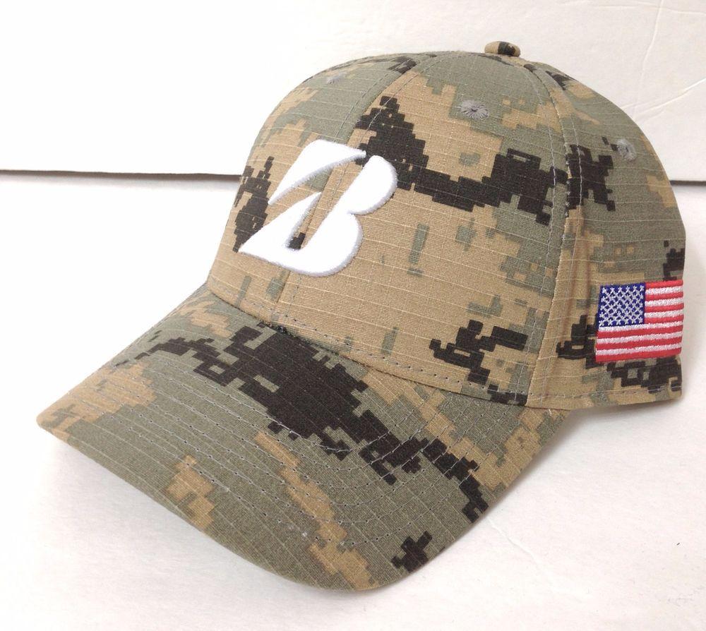 New 25 Men Bridgestone Golf Hat Light Brown Tan Greenish