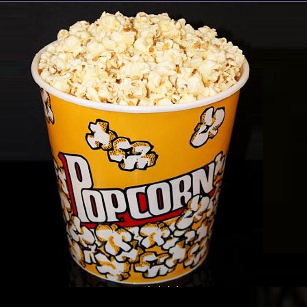 Retro Style Reusable Popcorn Bowl Medium Plastic Container Movie ...