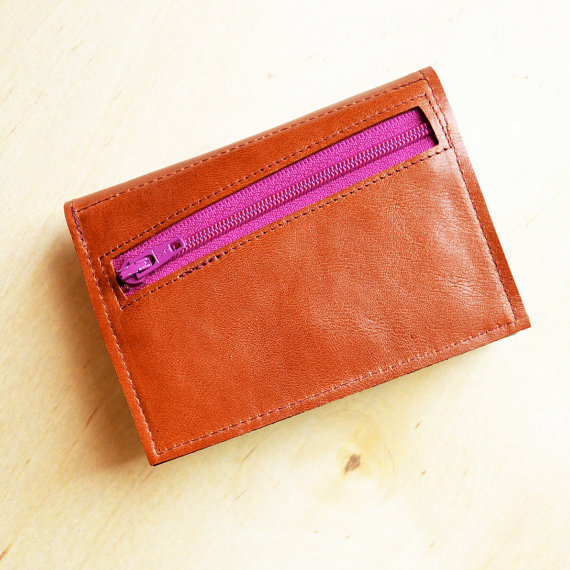 Leather Trifold Wallet For Women Gift Her With Coin Pocket Monogrammed