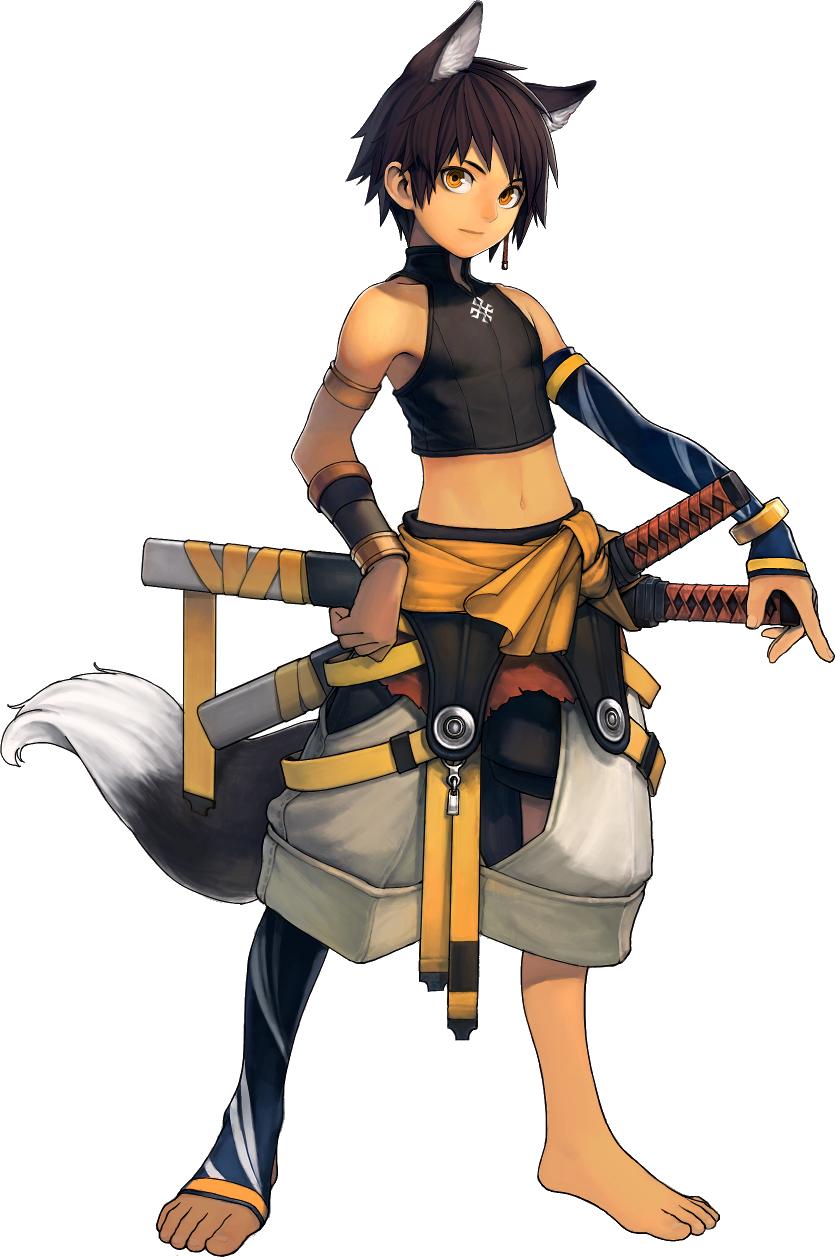 cat ears, swordsman, samurai Animal ears, Fantasy art