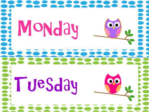 Owl Themed Days of the Week Posters | The o'jays, Owl and Chang'e 3