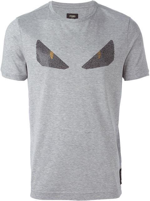 94ece7977a7e FENDI Monster Eyes Embellished T-Shirt. #fendi #cloth #t-shirt ...