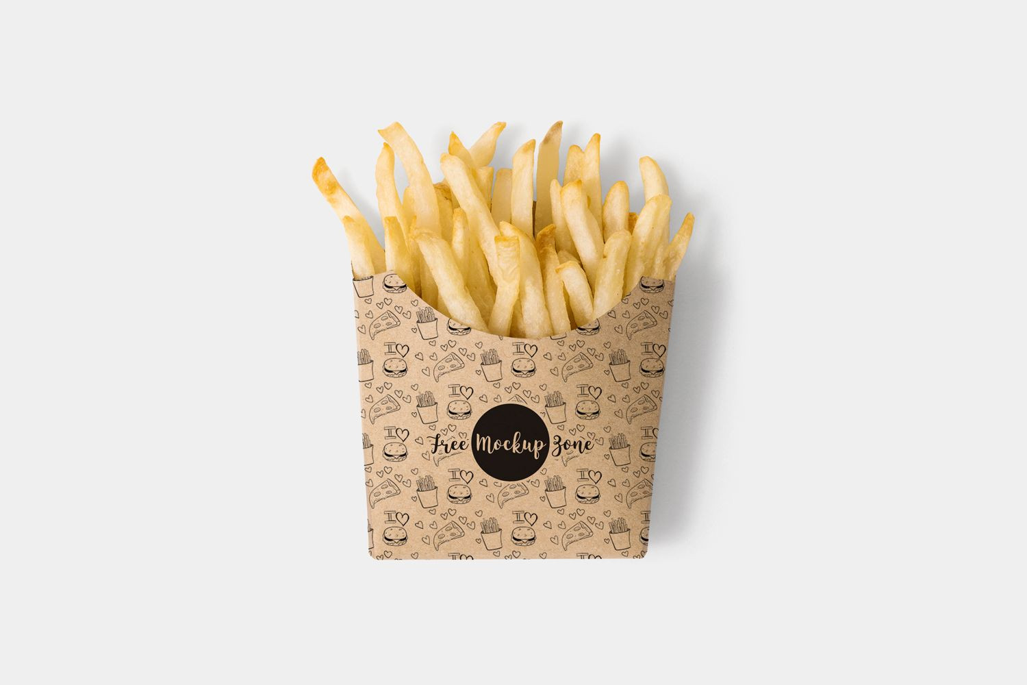 Download Free Brown Paper French Fries Box Mockup Psd 2018 Fries Packaging French Fries Food Box Packaging