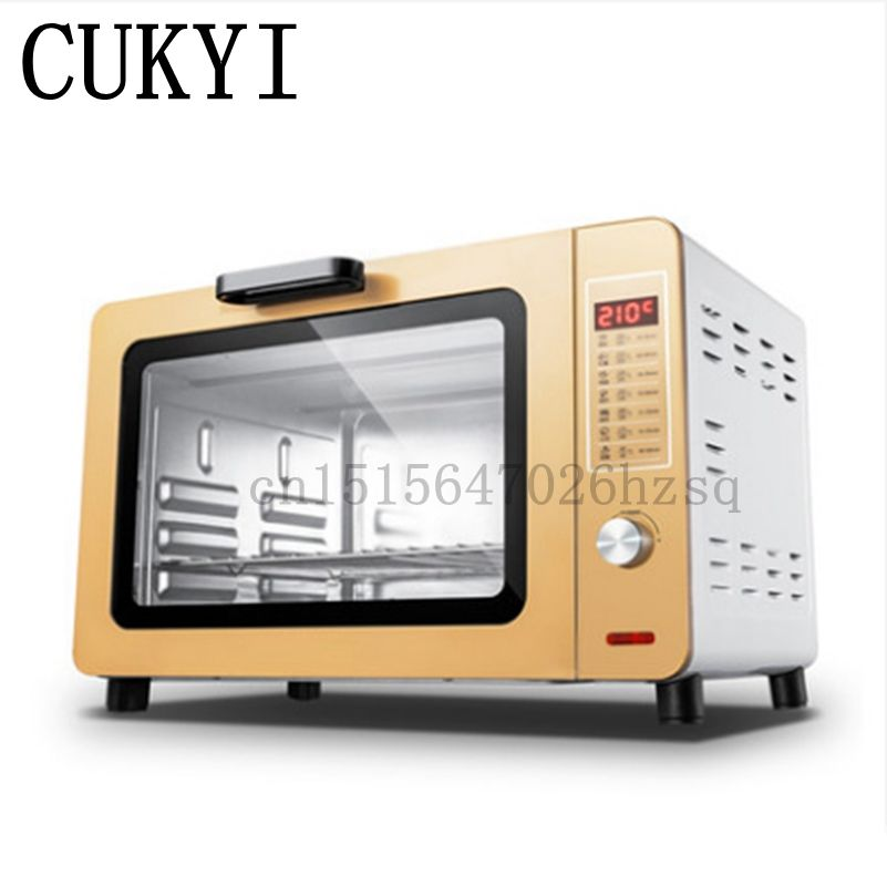 CUKYI Multi Functional Electric Household Baking Oven Big Power Capacity  Use For Making Bread, Cake, Pizza