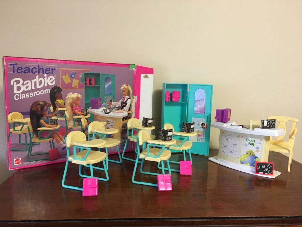 Barbie Doll School Locker Teacher Desk Student Desk