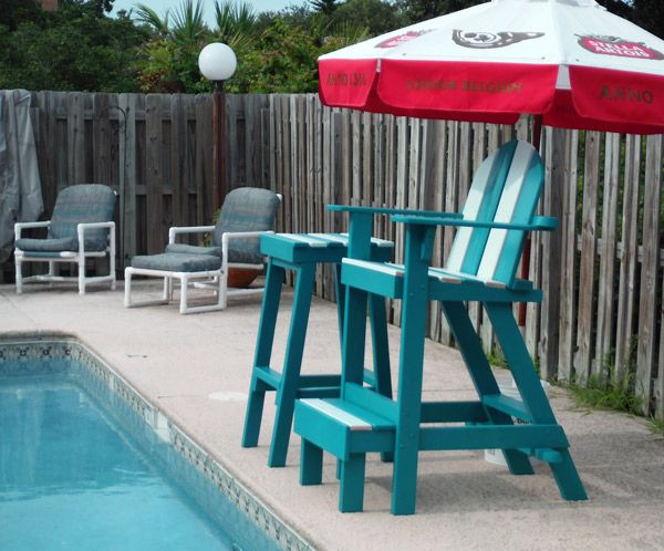 Lifeguard Chair And Lifeguard Side Table Nautical Patio