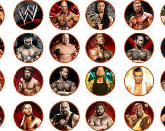 Printable Wwe Cupcake Toppers Cakepins Com With Images