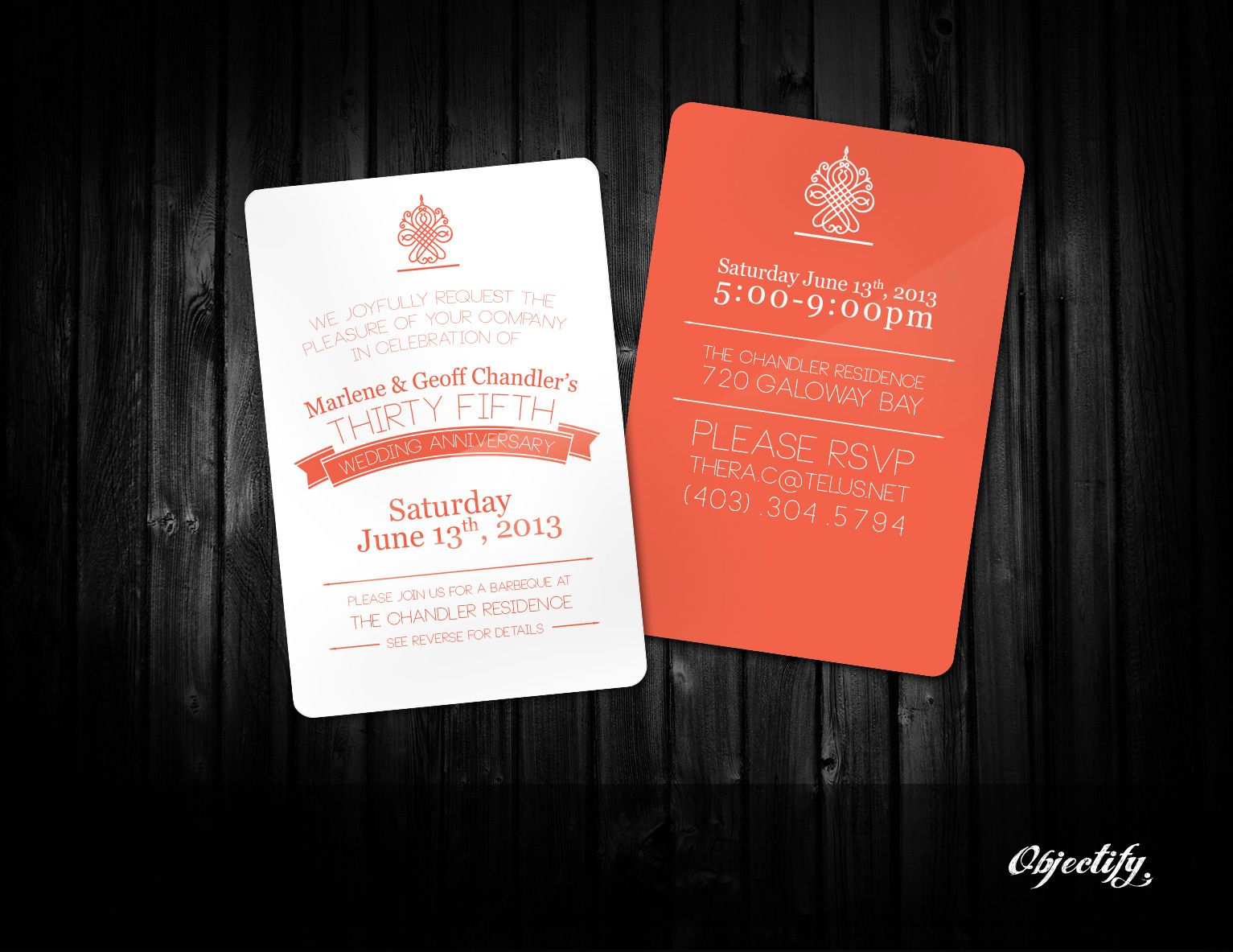 We were so excited to help a client create the perfect invitation to ...
