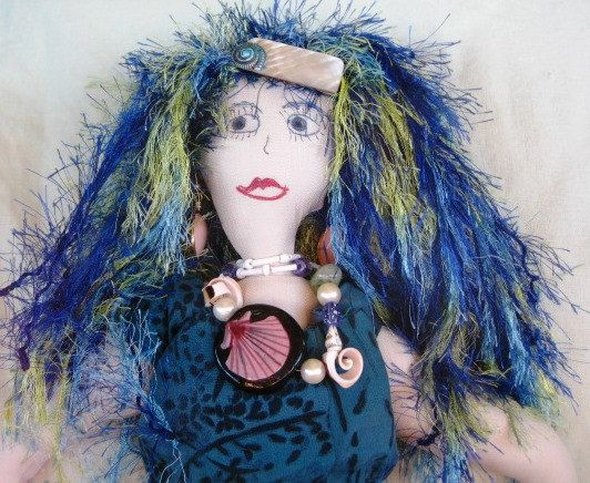 OOAK 36 Meredith Mermaid Soft Sculptured by WHISTLESTOPTRAINSHOP, $60.00