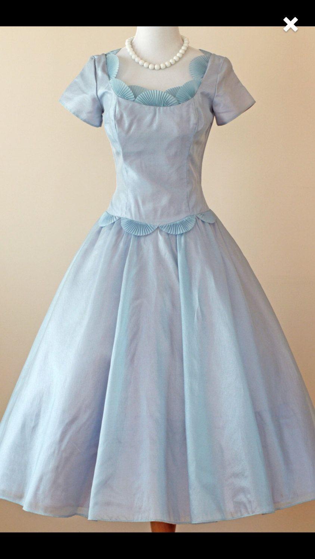 RESERVED FOR DEBBIE 50s Vintage Party dress 1950s Blue Wedding ...