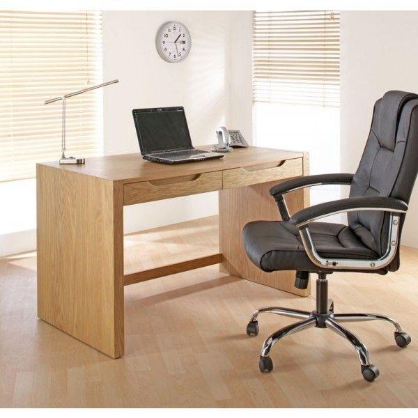 Home Office Desk Ln Oak Veneer By Alphason