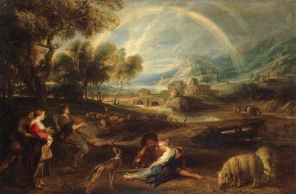 Paisagem com Arco-Íris (1632-35). Pieter Pauwel Rubens (1577-1640). Óleo sobre tela (86x130 cm). The Hermitage, St. Petersburg.