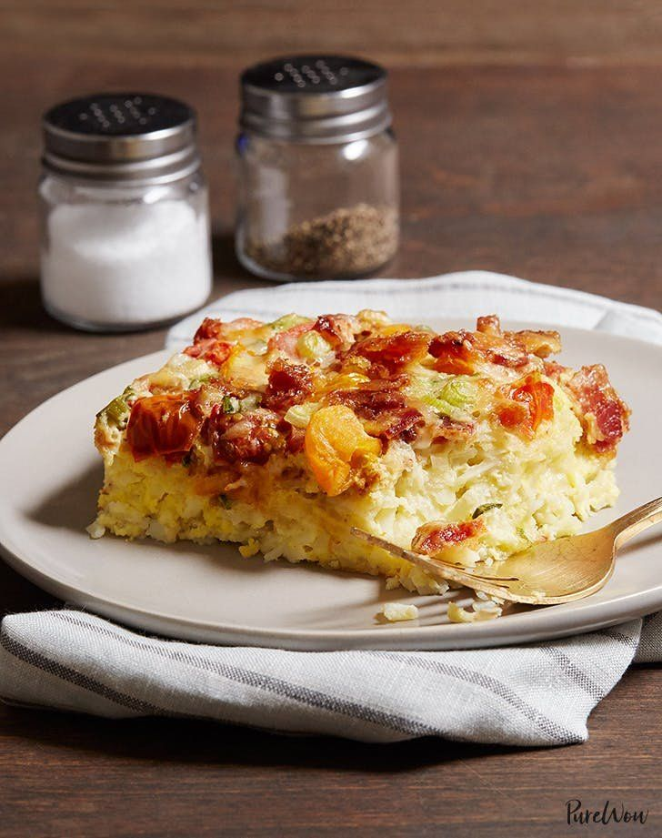 Slow-cooker breakfast casserole. Get this and more fall slow-cooker recipes to warm you up this season. #fallrecipes #slowcookerrecipes #slowcooker #fall #recipes