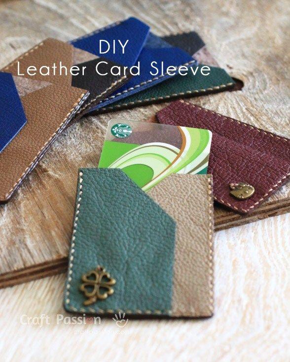 Leather Card Sleeve #leatherwallets