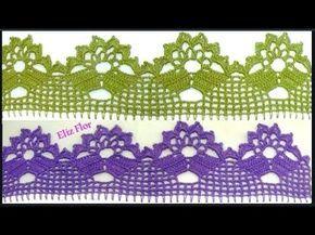 Barrado Em Croche Para Panos De Pratos Modelo 111 Youtube