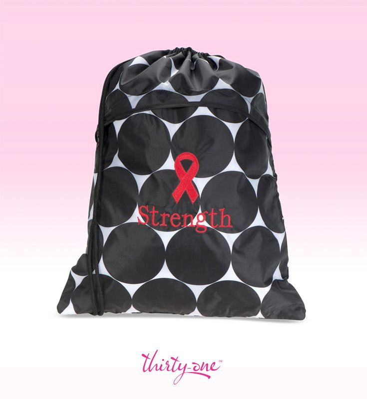 Start a conversation about Heart Disease Awareness with this Thirty-One Big Dot Cinch Sac and hard-to-miss red ribbon. For every ribbon purchased 31 cents will be donated to Thirty-One Gives to support our mission to empower women and girls and strengthen families.   www.mythirtyone.com/lorikuramoto