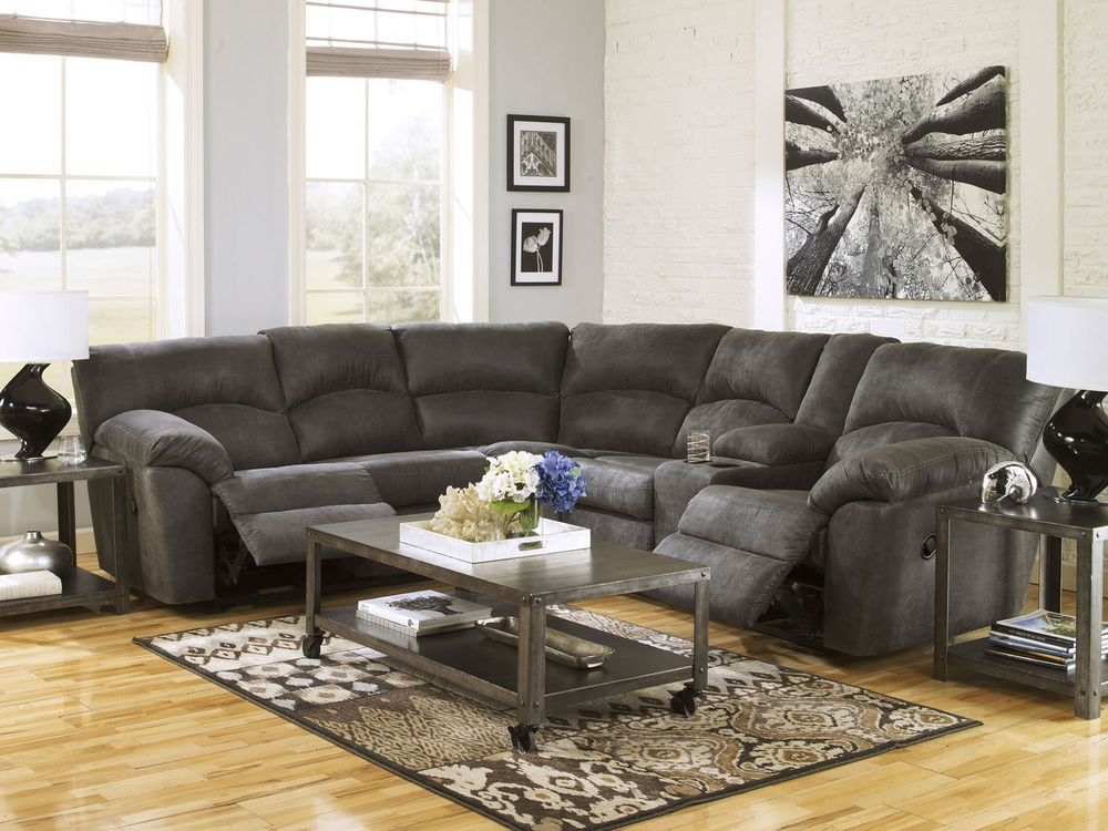 Dole Modern Microfiber Reclining Sofa Couch Sectional Set Living