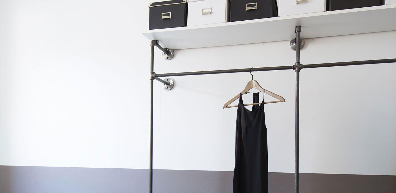 Wasserrohre-Moebel-Design-Kleiderständer-Water-Pipes-Clothes-Rack