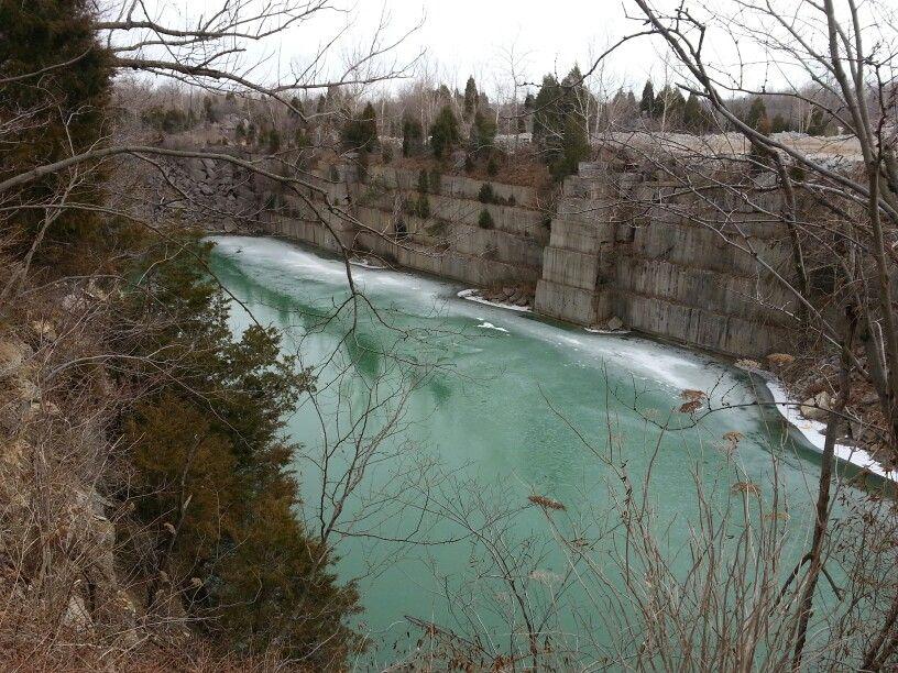 Empire Quarry, PM&B quarry Bedford Indiana - YouTube