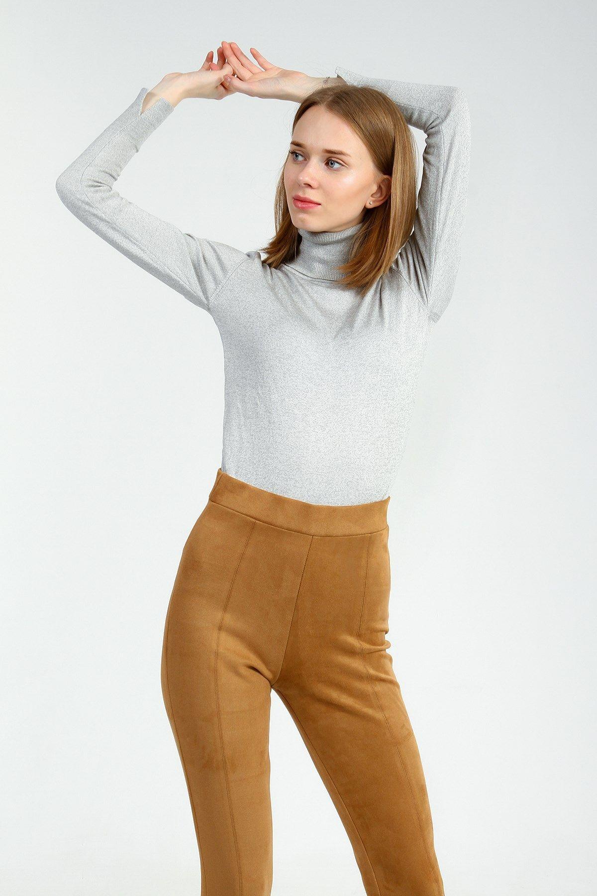 Kadin Grimelanj Slim Bogazli Kazak Triko Kazak Triko Kazak Modelleri Kad 2020 Moda Stilleri Kadin Moda