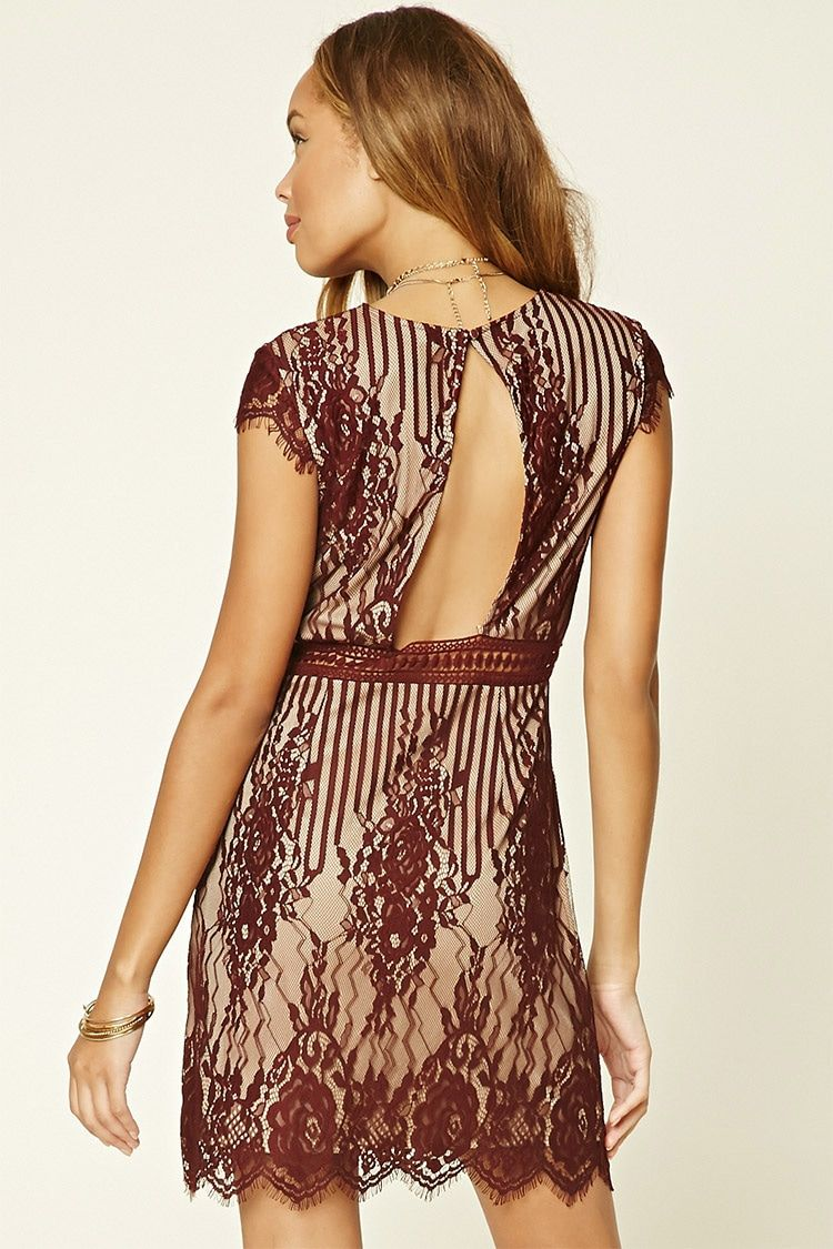 Floral Lace Cutout Mini Dress - Women - Dresses - 2000199376 - Forever 21  EU English 9f48ebc1c