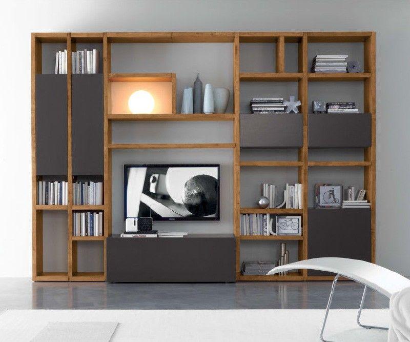 Die moderne und hochwertige wohnwand c92b von fgf mobili for Hochwertige wohnwand