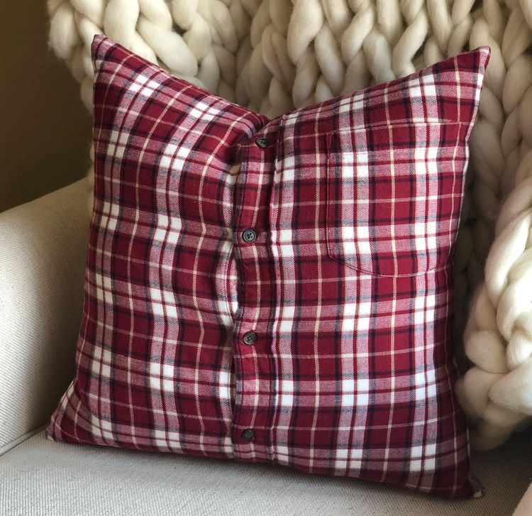 How to Make a Flannel Shirt Pillow Cover Memory Pillows