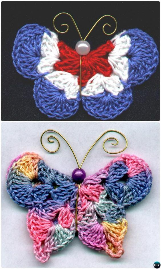 18 Crochet Butterfly Free Patterns [Picture Instructions] | Projects ...