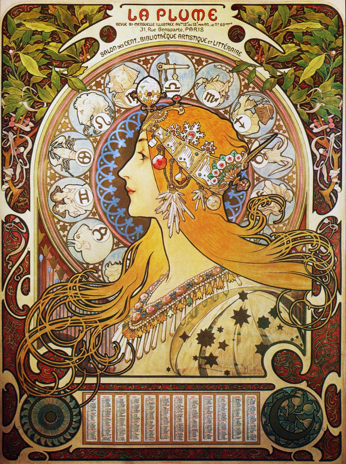 MUCHA CHAMPENOIS FRENCH WOMAN PARIS FRANCE REAL CANVAS GICLEE 8X10 ART PRINT