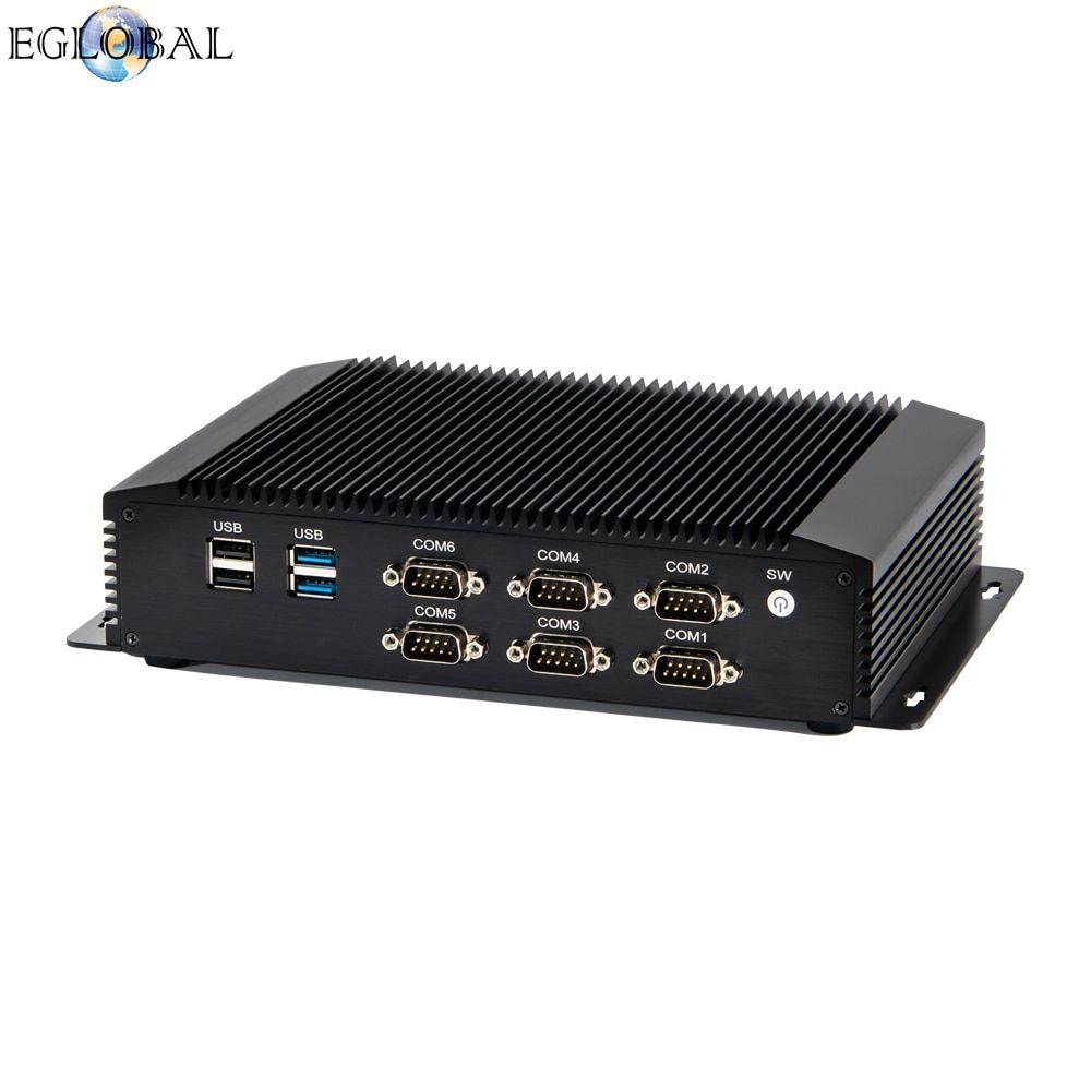 Fanless I5 I7 Industrial Mini Pc 2lan 6com Win 7 8 10 Linux
