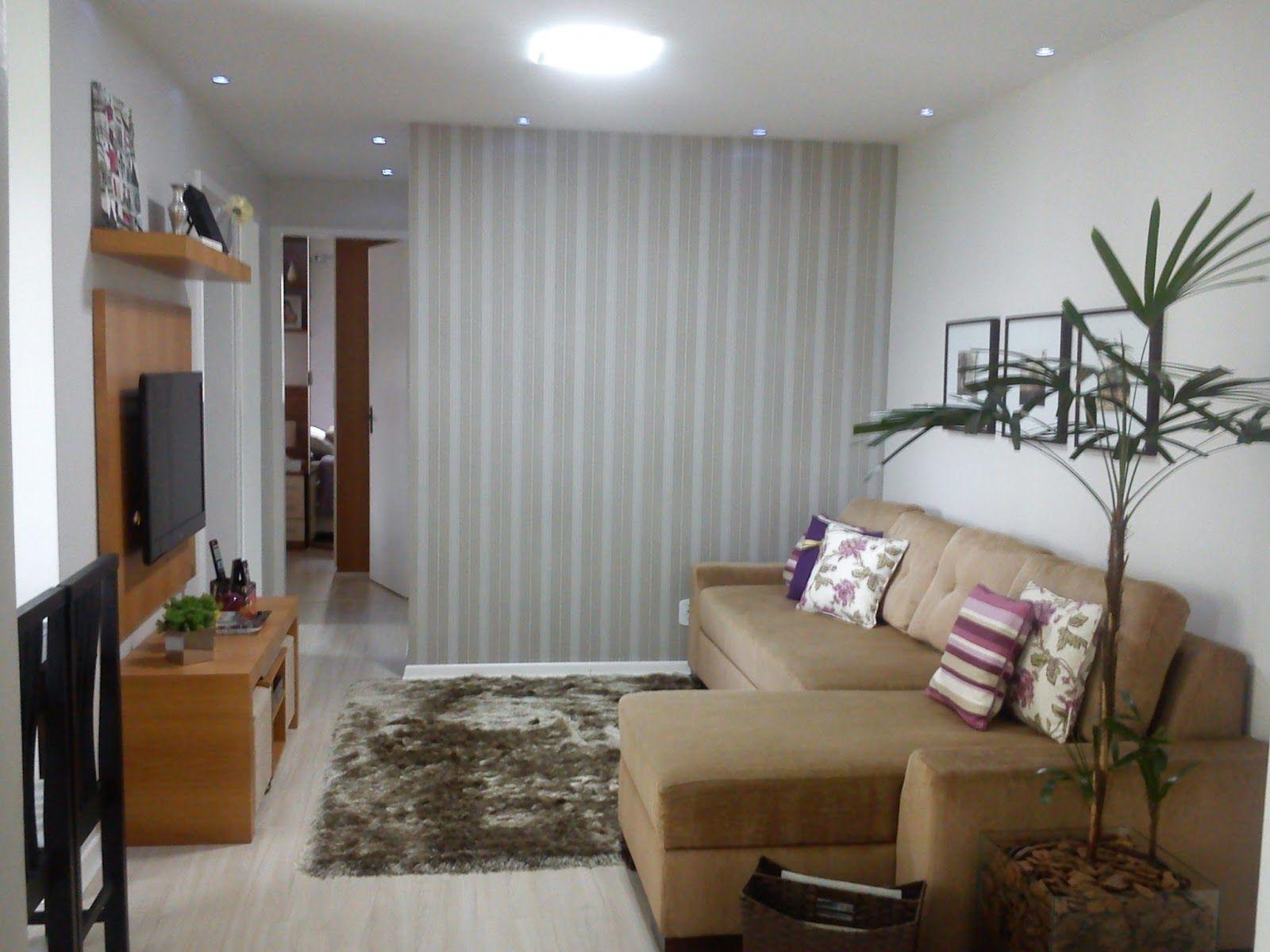 decoraç u00e3o sala de estar simples Pesquisa Google salas ideas Pinterest Small apartments  -> Decoração De Sala De Estar Pequena Simples E Barata