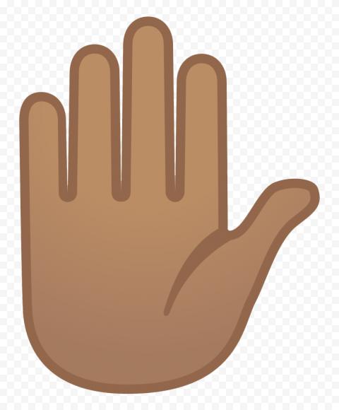 Hd Black Emoji Stop Hand Vector Clipart Png Black Emoji Clip Art Vector Clipart