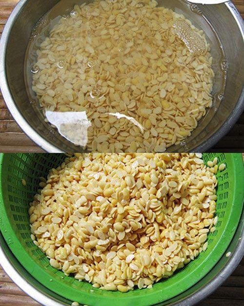 Cách làm sữa đậu xanh lá dứa thơm ngon, mát lành
