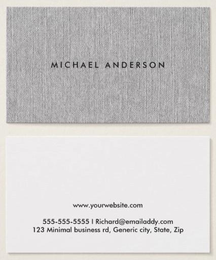 Gray Linen Business Cards Printed Texture Zazzle Com Linen Business Cards Printing Business Cards Gray Linen