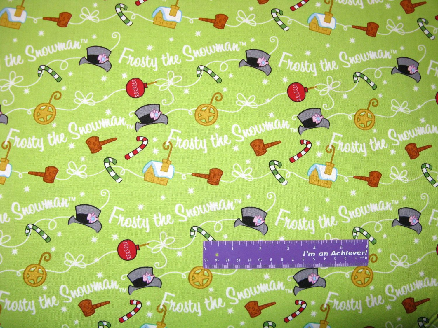 Frosty The Snowman Christmas Magic Hat Snow Green Cotton Fabric By The Half Yard by DaMommasTextiles on Etsy