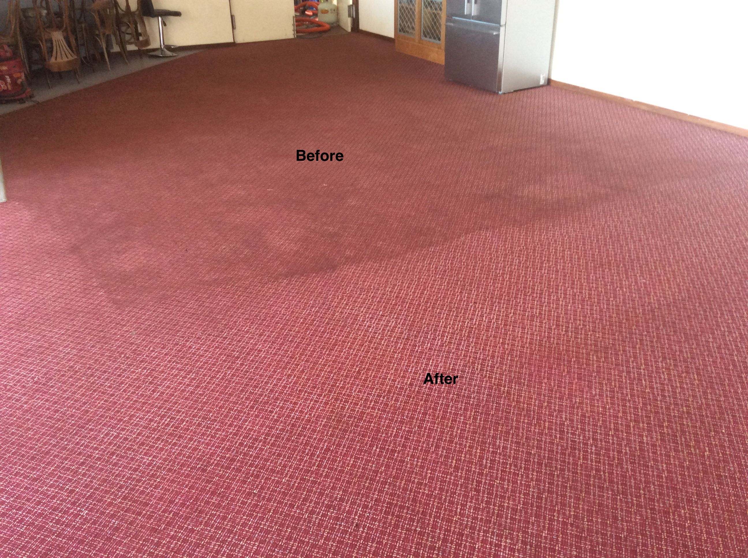 Commercial Carpet Cleaning, Perth, Western Australia. Heavy duty carpet steam cleaning a sporting club in Swanbourne.