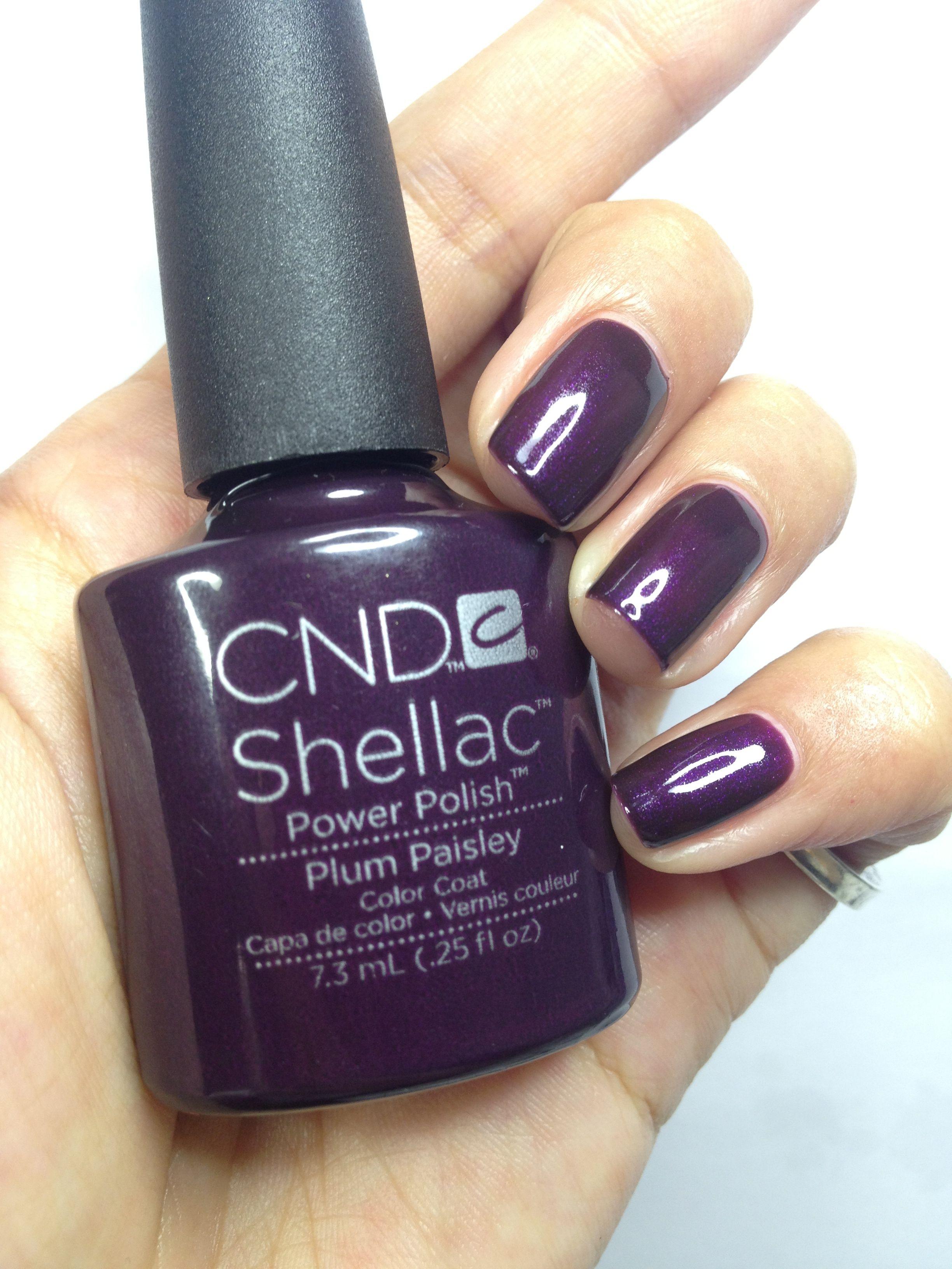 Cnd Creative Play Nail Lacquer Reviews In Nail Polish: Shellac Nails, Nails, Plum Nails